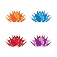 imágenes de logo de belleza de loto vector