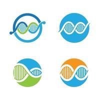 Ilustración de imágenes de logotipo de adn