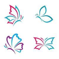 imágenes de logo de mariposa de belleza vector