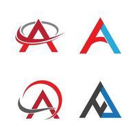 Letter a logo images vector