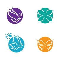 Beauty butterfly logo images