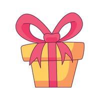 caja de regalo, caricatura, garabato, mano, dibujado, concepto, vector, kawaii, ilustración vector