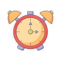 alarm clock cartoon doodle hand drawn concept vector kawaii illustration