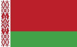 Bandera nacional de Bielorrusia en proporciones exactas - ilustración vectorial vector