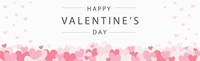 Conjunto de corazones rojos y rosados festivos con felicitaciones - ilustración vectorial vector