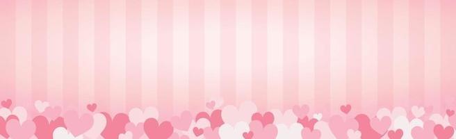 Conjunto de corazones rojos y rosados festivos - ilustración vectorial vector