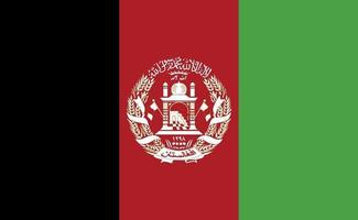Afghanistan national flag in exact proportions - Vector illustration