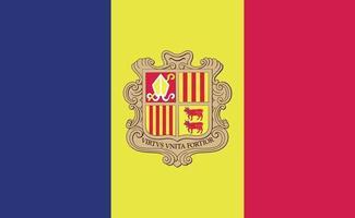 Bandera nacional de Andorra en proporciones exactas - ilustración vectorial vector