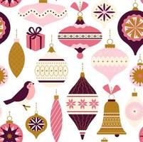Seamless pattern. Christmas Decor. Can be used for background, wrapping paper, fabric, surface design, cover, and etc.