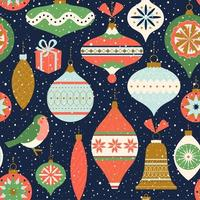 patrón sin costuras. decoración navideña. se puede utilizar para fondo, papel de regalo, tela, diseño de superficie, cubierta, etc. vector