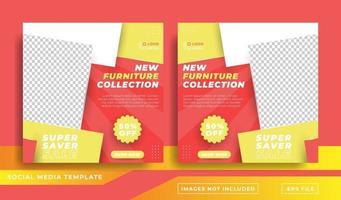 plantilla de publicación de redes sociales de colección de muebles