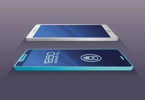 maqueta de teléfonos inteligentes realistas vector
