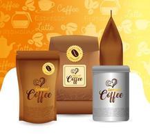 maqueta de café para diseño de paquete vector