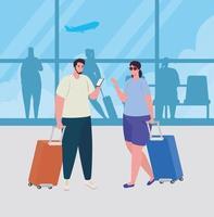 personas en la terminal del aeropuerto