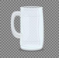 Transparent empty glass jar mockup vector
