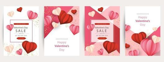 Happy Valentine's Day greeting card design. vector