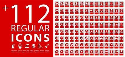 coronavirus covid 19. detener iconos de coronavirus vector