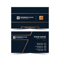 Double sided business Card, template design vector