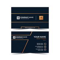 tarjeta de visita de doble cara, diseño de plantilla vector