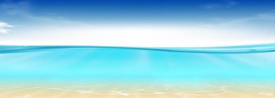 Realistic blue underwater. 3D illustration. vector