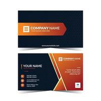 Abstract business card template design vector