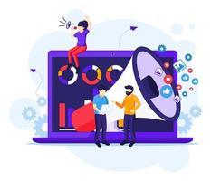 concepto de campaña de estrategia de marketing