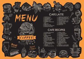 Coffee house menu. Restaurant cafe menu. vector