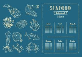 seafood restaurant menu template. Vector. vector