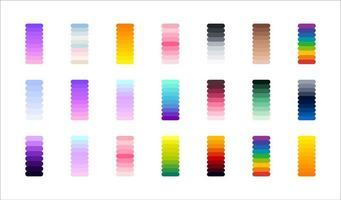 nueva tendencia de gradiente. colores perfectos para el diseño. vector. vector