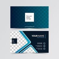 plantilla de tarjeta de visita con lugar para la foto vector