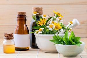 tratamiento herbal de manzanilla foto