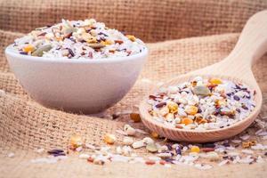arroz multigrano colorido