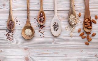 Grains in spoons photo