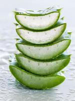 Sliced fresh aloe vera