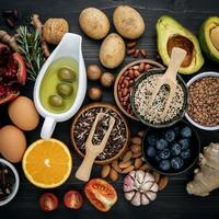Top view of fresh food
