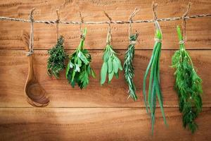 Herbs hung to dry