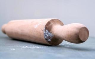 Close-up of a rolling pin