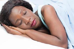Pretty woman sleeping photo