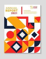 Colourful modern annual report template. Applicable for covers, flyers, placards, posters and banner design, etc. vector