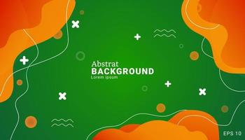 green and yellow background with gradient composition. Usable for celebration event or business presentation. with gradient composition. vector