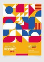 plantilla de informe anual moderno colorido. aplicable para portadas, volantes, carteles, carteles y diseño de pancartas, etc. vector