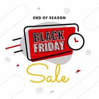 Simple black friday banner design template vector