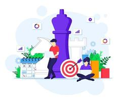 Business strategy concept, People are planning a business strategy concept. vector