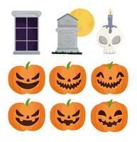 feliz halloween conjunto de iconos
