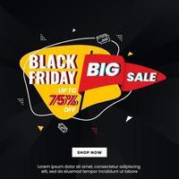 Black friday banner design concept vector