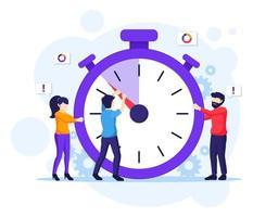 concepto de gestión del tiempo vector