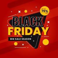 Black friday sale design template background vector