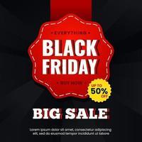 Banner for black friday special offer vector