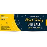 Banner sale for black friday season vector