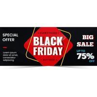 Black friday special offer banner design vector